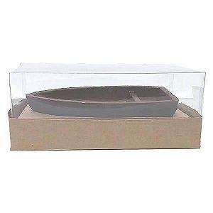 Caixa para Barca M Chocolate (17,6x11x9 cm) KIT91 10unid