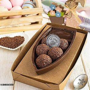 Caixa para Barca G Chocolate (17,6x11x7 cm) KIT99 10unids Caixa de Acetato