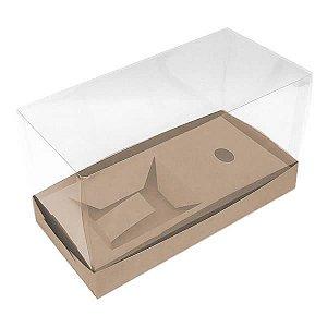 Caixa para Sapato de Chocolate (21x10x12 cm) KIT101 10unids Caixa de Acetato