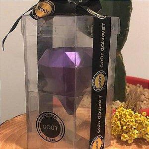 Caixa para Ovo Diamante G 500g Forma852 (15x15x18 cm) KIT108 10unids Caixa de Acetato