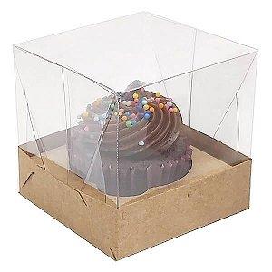 Caixa para 1 Cupcake Pequeno (6x6x6 cm) KIT2 10unids Caixa de Acetato