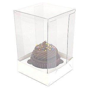 Caixa para 1 Cupcake Pequeno (6x6x9,5 cm) KIT3 10unids Caixa de Acetato