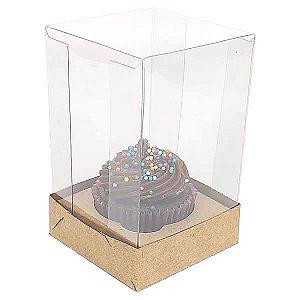 Caixa para 1 Cupcake Pequeno (6x6x9,5 cm) KIT4 10unids Caixa de Acetato