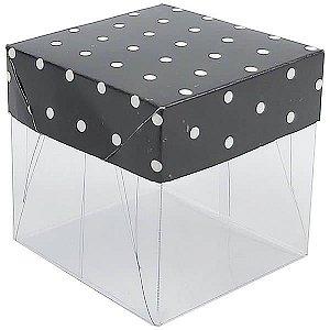 Caixa de Acetato com Base Preta Poá 10unid