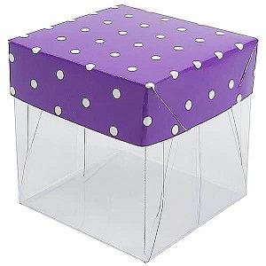 Caixa de Acetato com Base Roxa Poá 10unid