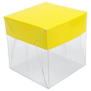 Caixa de Acetato com Base Amarela Lisa 10unid