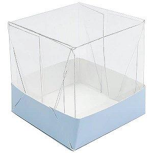 Caixa de Acetato com Base Azul Claro Lisa 10unid