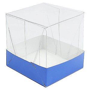 Caixa de Acetato com Base Azul Escuro Lisa 10unid