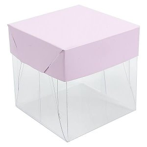 Caixa de Acetato com Base Lilas Lisa 10unid