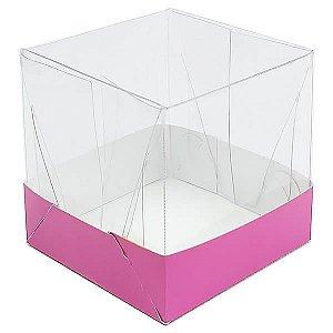 Caixa de Acetato com Base Pink Lisa 10unid