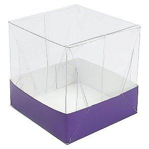 Caixa de Acetato com Base Roxa Lisa 10unid