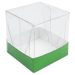 Caixa de Acetato com Base Verde Escuro Lisa 10unid