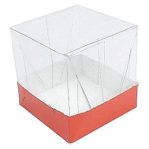 Caixa de Acetato com Base Vermelha Lisa 10unid