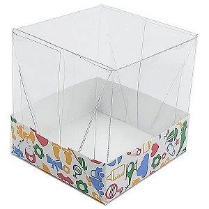 Caixa de Acetato com Base Kids Bebê Crianças 10unid