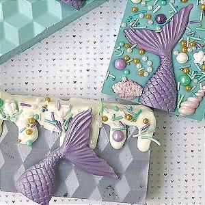 Forma para Chocolate Aplique Cauda da Sereia 7g Forma Simples Ref. 10026 BWB 10unid