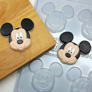Forma para Chocolate Bombom Rosto Mickey 24g Ref. 12042 BWB Licenciada Disney 10unid