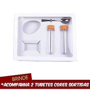 Caixa Kit Confeiteiro Branco 150g (26x20x5 cm) 10unids Confeitar Kids Forma BWB Kit Confeiteiro para Meio Ovo de Páscoa 150g