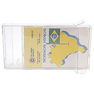 K7-Case (0,20mm) Caixa Protetora para CaixaBox Fita Cassete K-7 Aclopada com Caixa Acrilica 10unid