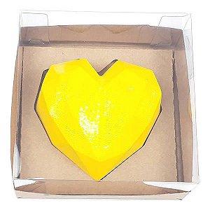 Caixa (12x12x6 cm) Embalagem para Meio Coração Lapidado 200g Ref.9837 KIT119 10unid
