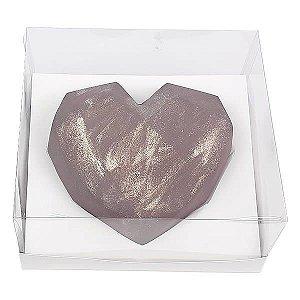 Caixa (19x17.5x9 cm) Embalagem para Meio Coração Lapidado 500g Ref.9838 inclinado em 45graus KIT122 10unids Caixa de Acetato