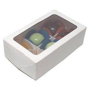 Caixa 6 Divisórias (Branca) (12x7.5x4 cm) 10unid Caixa para Docinhos