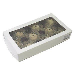 Caixa 18 Divisórias (Branca) (22x12x4 cm) 10unid Caixa para Docinhos