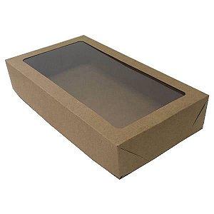Caixa 18 Visor (Kraft) (22x12x4 cm) 10unid Lembrancinhas