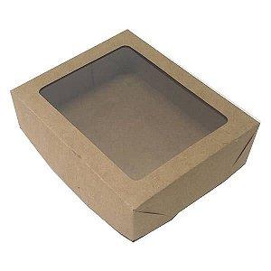 Caixa 12 Visor (Kraft) (15x12x4 cm) 10unid Embalagem