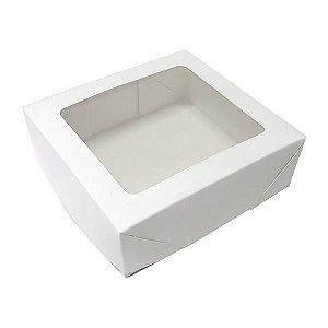 Caixa 9 Visor (Branca) (12x11x4 cm) 10unid Embalagem Doces