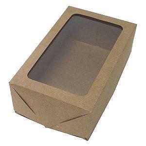 Caixa 6 Visor (Kraft) (12x7.5x4 cm) 10unid Caixinha Janelar