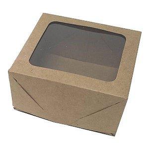Caixa 4 Visor (Kraft) (8x7.5x4 cm) 10unid Embalagem Janelar
