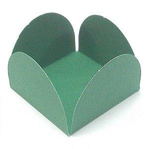 Forminha de Papel Verde Escuro (3.5x3.5x2.5 cm) 100unid Caixeta