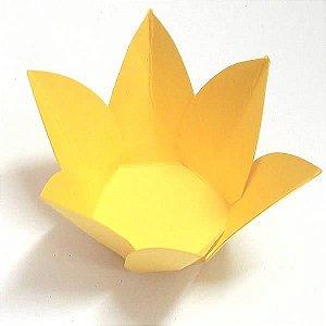 Forminha de Papel Flor Amarela (2.3x2.3x3 cm) 100unid Doces Gourmet