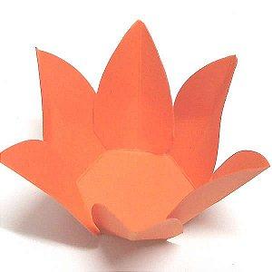 Forminha de Papel Flor Laranja (2.3x2.3x3 cm) 100unid Forminha Doces