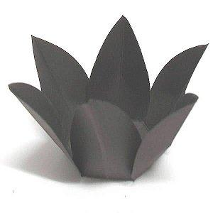 Forminha de Papel Flor Marrom (2.3x2.3x3 cm) 100unid Bicho de Pé
