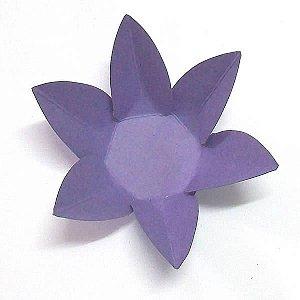 Forminha de Papel Flor Roxa (2.3x2.3x3 cm) 100unid Brigadeiros