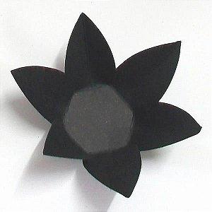 Forminha de Papel Flor Preta (2.3x2.3x3 cm) 100unid Caixinha