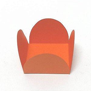 Forminha de Papel Laranja (3.5x3.5x2.5 cm) 100unid para Doces