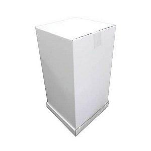 Caixa Alta 51cm Papelão (26x26x51 cm) 1unid Transporte de Bolo 3 Andares Confeitaria