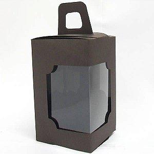 DV-12 Lisa Marrom (6x6x10 cm) 10unid Caixa Janelar