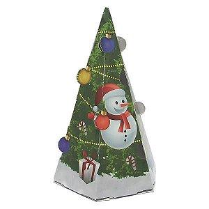 Cone-1 Natal Caixa para Cone Trufado (7x7x12 cm) 10unid Caixinha