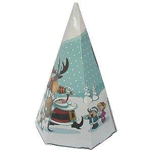 Cone-2 Natal Caixa para Cone Trufado (7x7x12 cm) 10unid