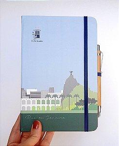Caderneta tipo moleskine G com caneta