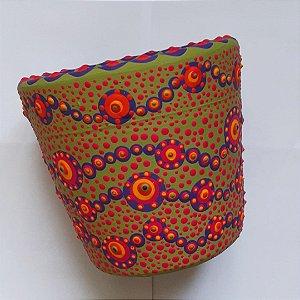 Vaso terracota pintado a mão