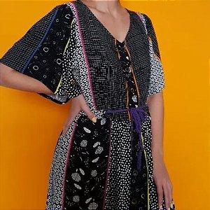 Vestido Midi Mix de Estampas