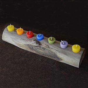 Régua de velas Rainbow