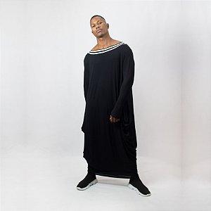 Vestido Pipa Preto Malha