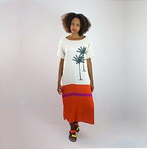 Vestido t-shit Palmeira
