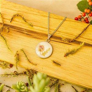 Colar Medalhinha - Amor agarradinho e samambaia