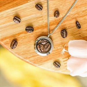 Relicário Grãos de Café